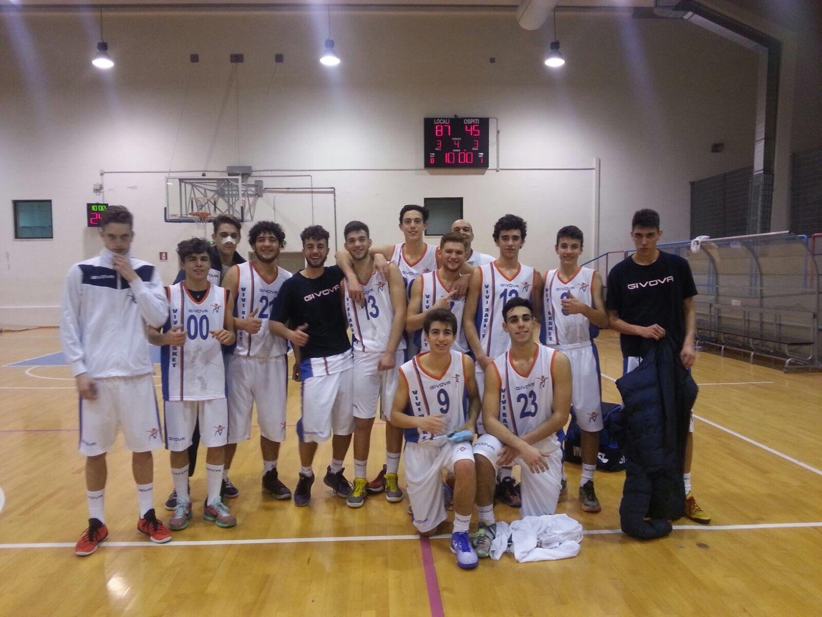 U18Eccellenza: Vivi Basket travolge Scafati