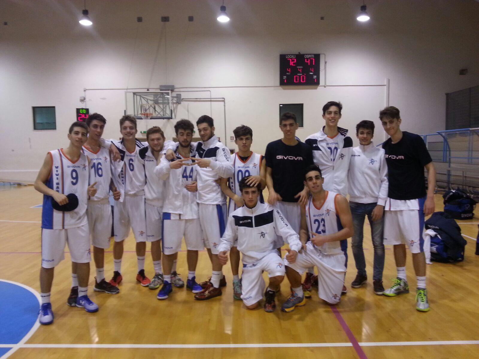Under 18 Eccellenza: Vivi Basket straordinaria prestazione